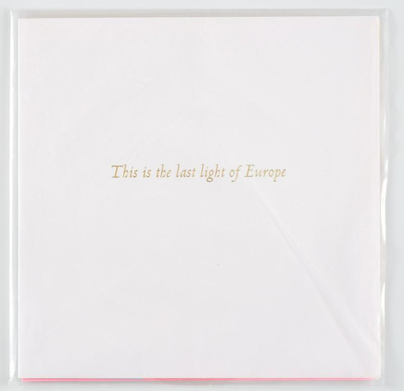 This is the Last Light of Europe