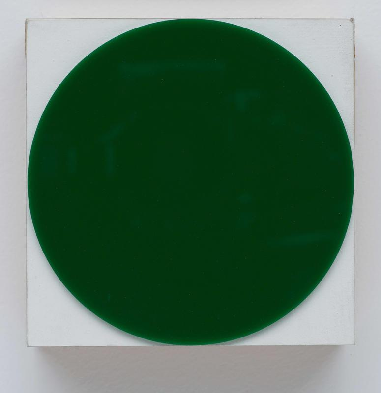 Block Painting: Green Circle