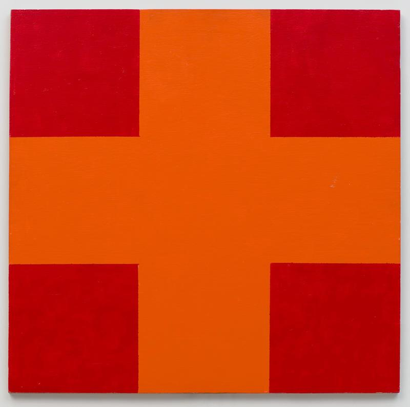Orange and Red Cross