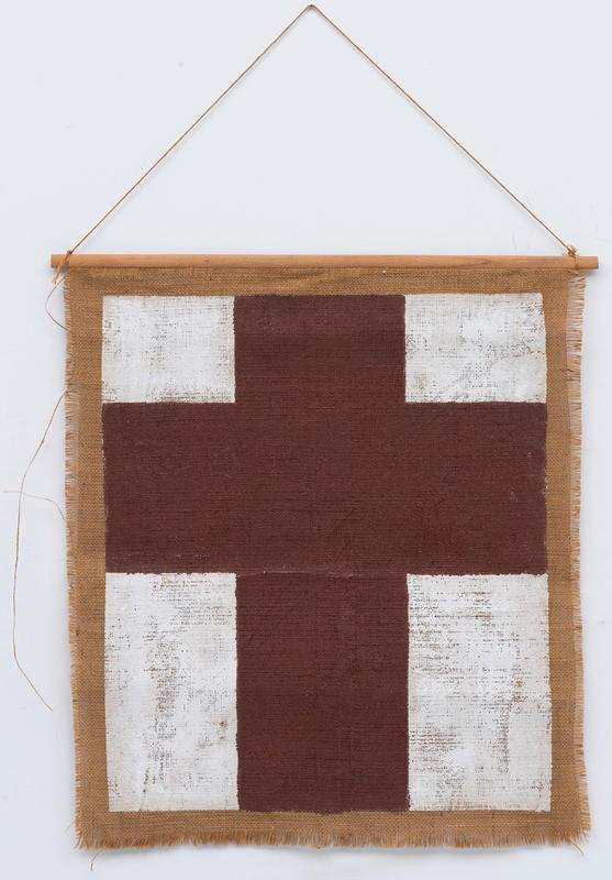 Brown and White Cross
