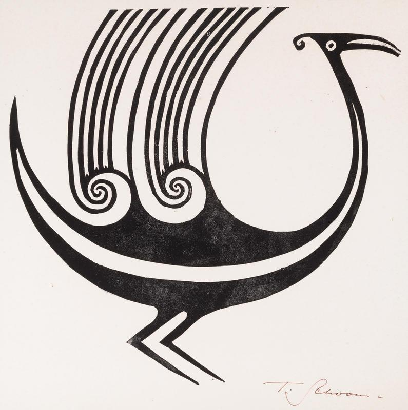 Mythological Bird in the Opihi River Style