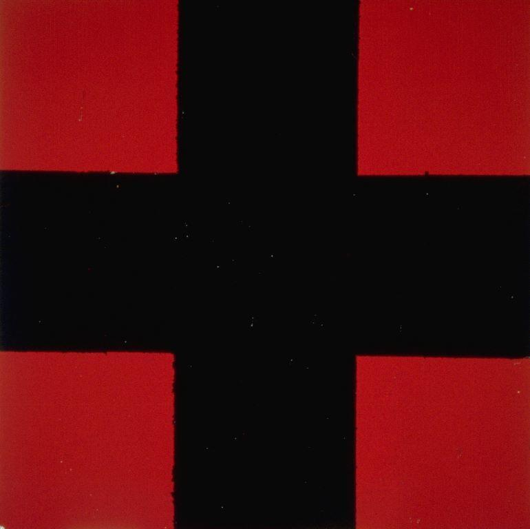 Block Painting (Black Cross on Red) 1993