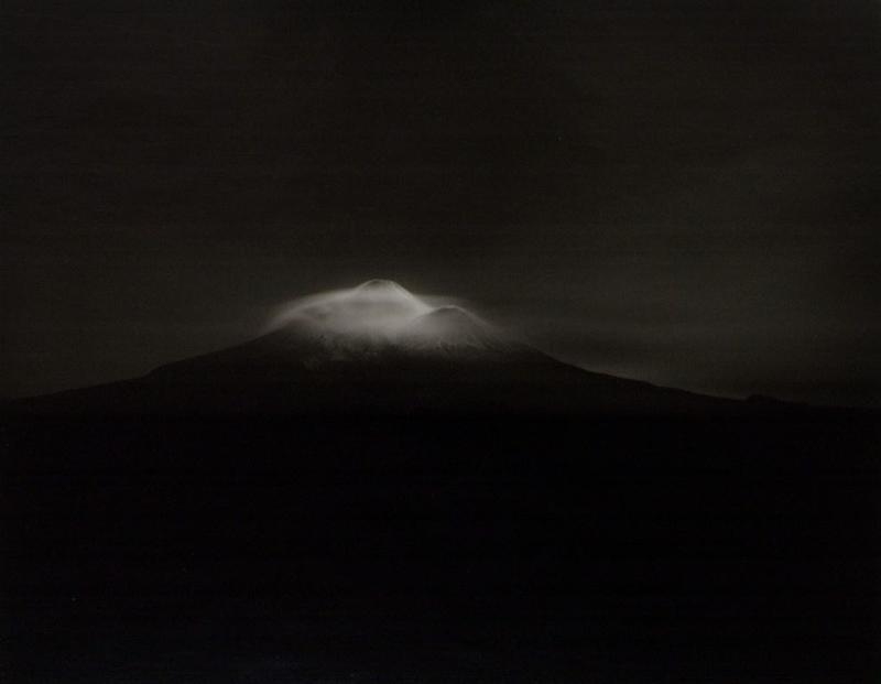 Taranaki, from Oeo Road, under moonlight, 27-28 September 1999