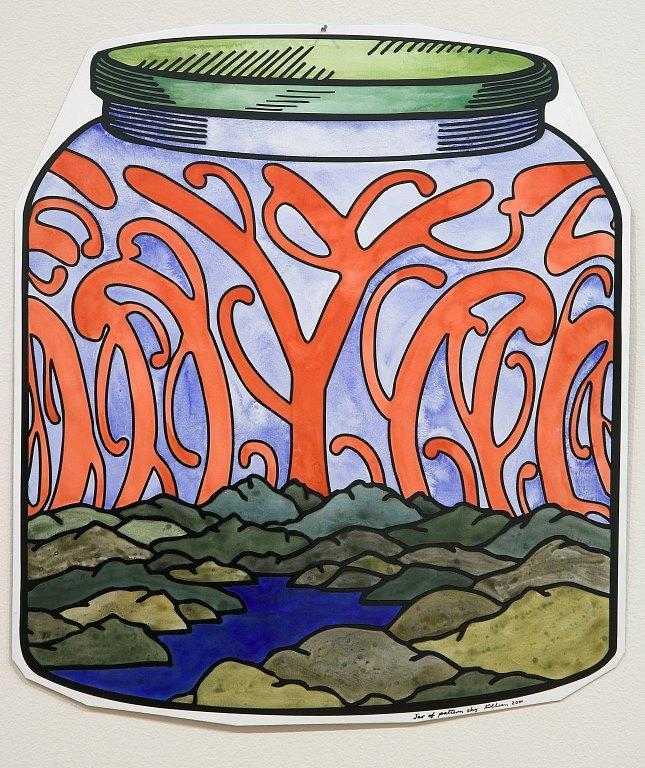 Jar of pattern sky