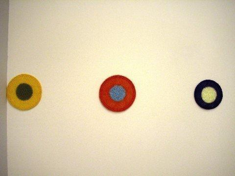 Crocheted Paintings from 'Cottage Industry' (1997)