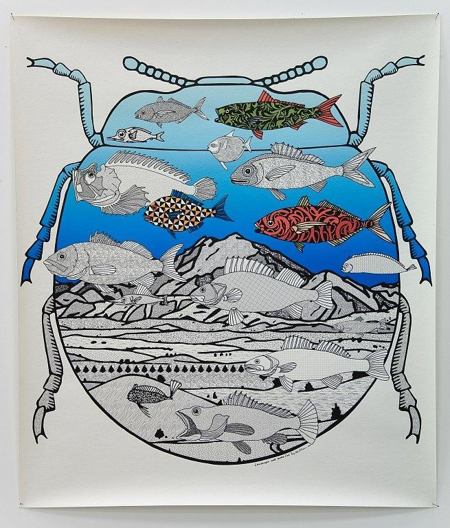 Landscape with extra fish