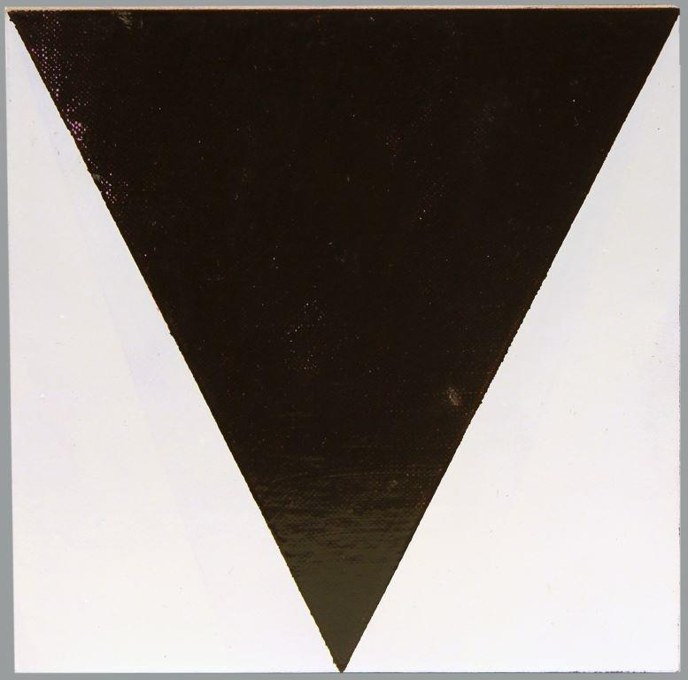 Block Painting (Brown Triangle on White) 1993